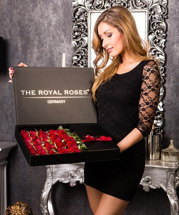 The Royal Roses® Die roten Rosen in der Royal Delux Box Flower Box