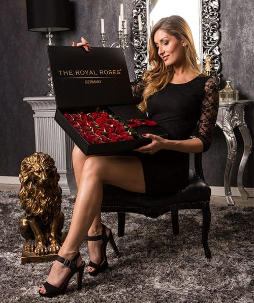 The Royal Roses® Die roten Rosen in der Royal Delux Box Flower Box
