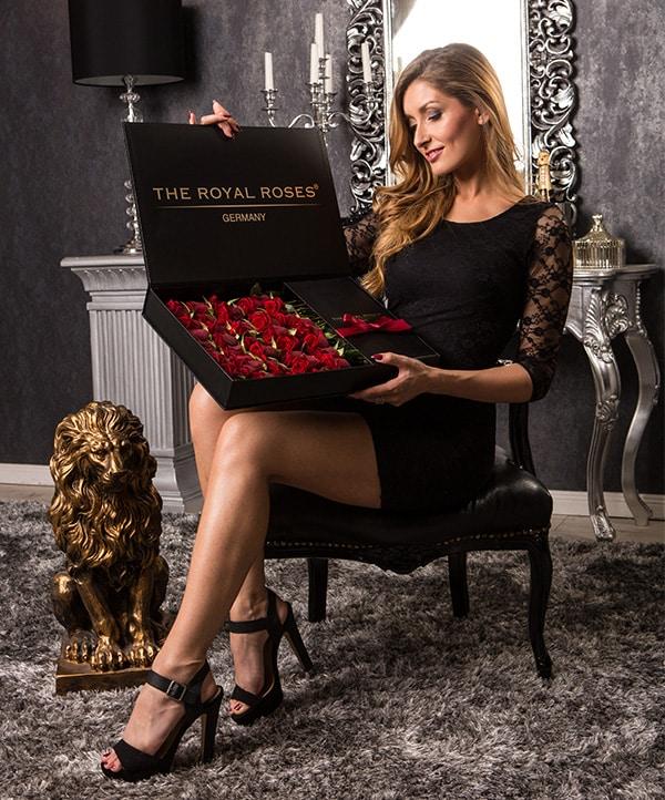 The Royal Roses - Rosenbox - Schachtelbox mit roten Rosen