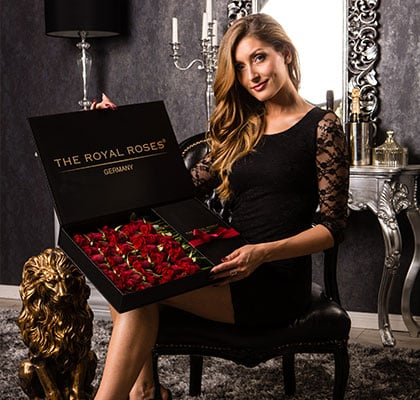 The Royal Roses® Die roten Rosen in der Royal Delux Box